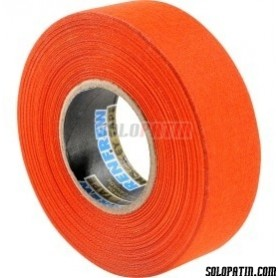 Orange Ribbon Tape Hockey Sticks