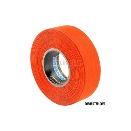 Orange Ribbon Tape Hockey Sticks