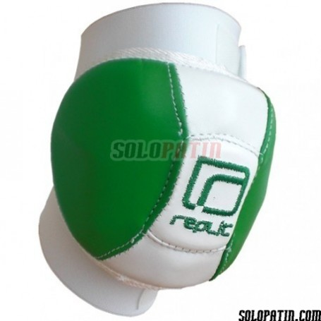 Rodilleras Hockey Replic R-13 Ini Verde / Blanco