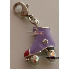 Roller Skate Pendant Enameled Violet