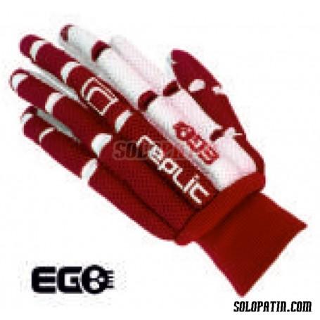 Guantes Hockey Replic EGO Rojo / Blanco