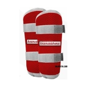 Shin Pads Meneghini kid blue/white