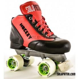 Conjunto Patines Hockey Solopatin Best Fibra Rojo