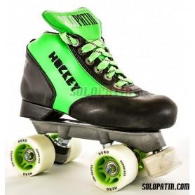 Conjunto Patines Hockey Solopatin Best Fibra Verde