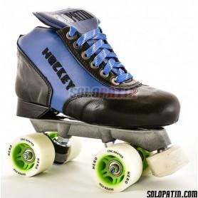 Conjunto Patines Hockey Solopatin Best Fibra Azul