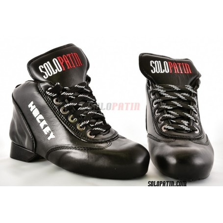 Conjunto Patines Hockey Solopatin Best Fibra Negro