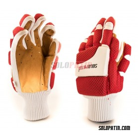 Hockey Gloves Solopatin Light Red