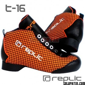 Botas Hockey Replic t-16 Naranja Fluor