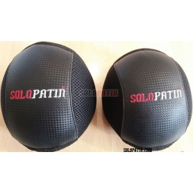 Hockey Knee Pads Solopatin AIRMESH 3D Black Black