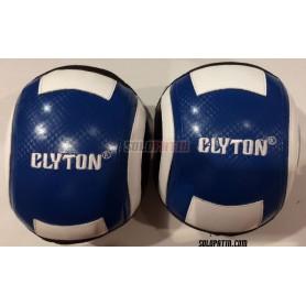 Rodilleras Clyton Azul Blanco Talla M