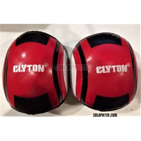 Ginocchiere Hockey Clyton Rosso Bianco Taglia M