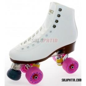Figure Quad Skates ADVANCE Boots Aluminium Frames ROLL-LINE BOXER Wheels