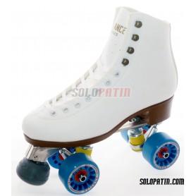 Figure Quad Skates NELA Boots Aluminium Frames KOMPLEX IRIS Wheels