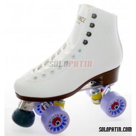 Figure Quad Skates ADVANCE Boots Aluminium Frames KOMPLEX AZZURRA Wheels