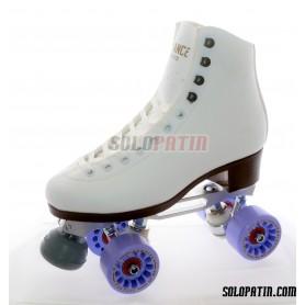 Figure Quad Skates ADVANCE Boots STAR B1 PLUS Frames KOMPLEX AZZURRA Wheels