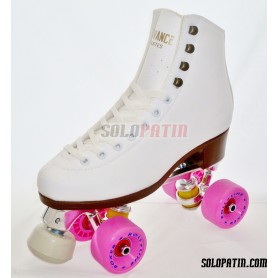 Patins Complets Artistique Bottines ADVANCE Platines BOIANI STAR RK Roues ROLL-LINE BOXER