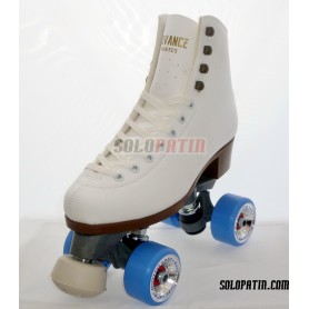 Figure Quad Skates ADVANCE Boots FIBER Frames ROLL*LINE GIOTTO Wheels
