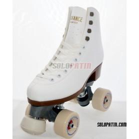 Figure Quad Skates ADVANCE Boots FIBER Frames ROLL*LINE MAGNUM Wheels