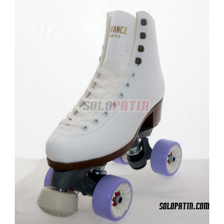 Patines Artístico Bota ADVANCE Patin De Fibra Ruedas Komplex ANGEL