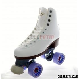 Figure Quad Skates ADVANCE Boots FIBER Frames KOMPLEX AZZURRA Wheels