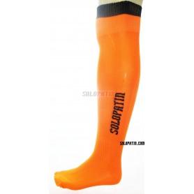 Medias Hockey Solopatin Naranja Fluor