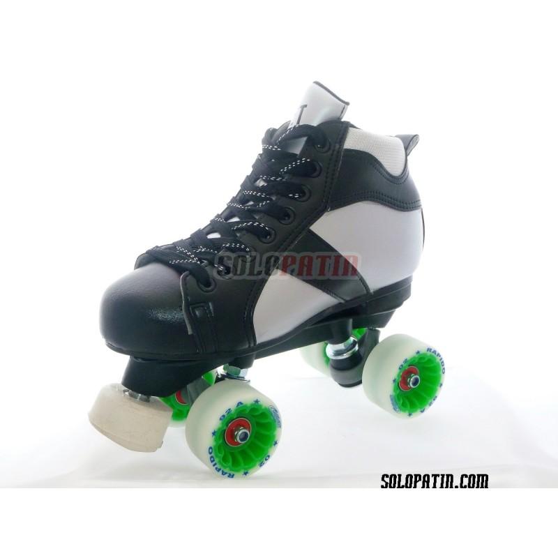 Conjunto Patines Hockey Solopatin ROCKET Fibra ruedas ROLL*LINE RAPIDO