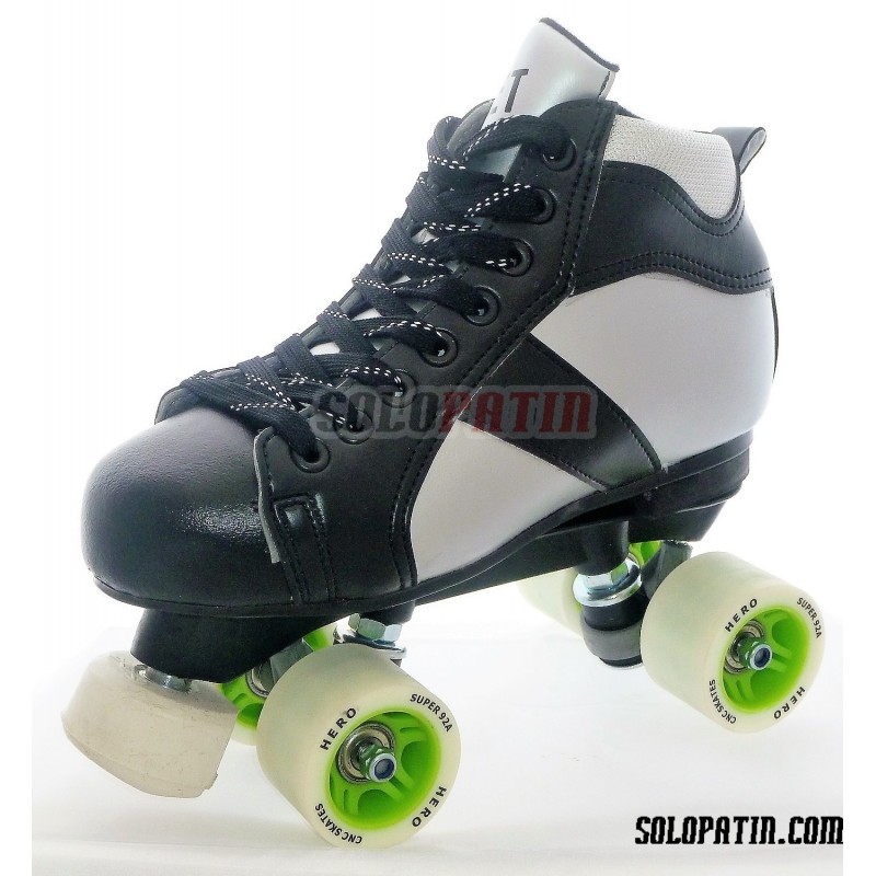 Conjunto Patines Hockey Solopatin ROCKET Fibra ruedas HERO