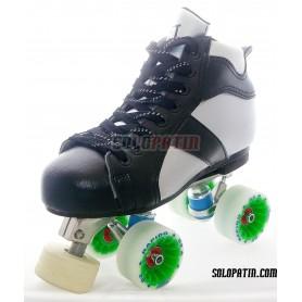 Conjunto Patines Hockey Solopatin ROCKET Aluminio ruedas ROLL*LINE RAPIDO