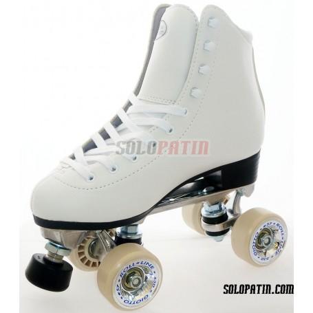Figure Quad Skates INITIATION ALUMINIUM, ROLL-LINE GIOTTO Wheels