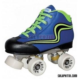 Conjunto Hockey Reno Initation Azul Verde Fluor
