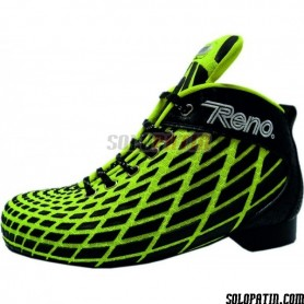 Rollhockey Schuhe Reno Microtec Gelb Fluor