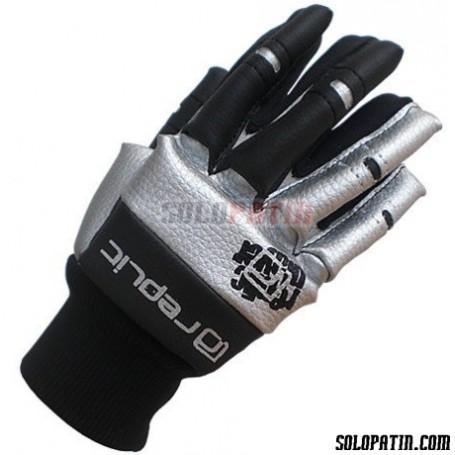 Rollhockey Handshuhe Replic Mini Schwarz / Silber