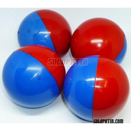 Bolas Hockey Profesional Azul Rojo SOLOPATIN