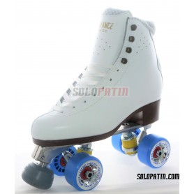 Figure Quad Skates ADVANCE ELITE Boots Aluminium Frames ROLL-LINE GIOTTO Wheels