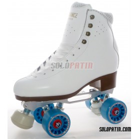 Figure Quad Skates ADVANCE ELITE Boots STAR B1 PLUS Frames KOMPLEX IRIS Wheels