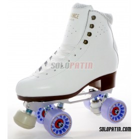 Figure Quad Skates ADVANCE ELITE Boots STAR B1 PLUS Frames KOMPLEX AZZURRA Wheels