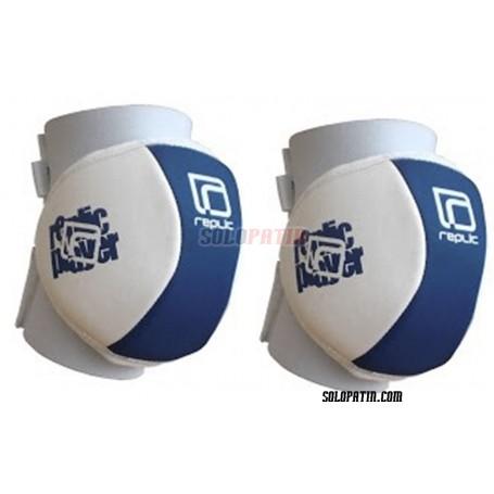 Rodilleras Hockey Replic Mini Azul / Blanco