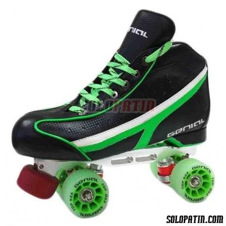 Conjunto Patines Hockey Genial TOP  Nº 4 Verde