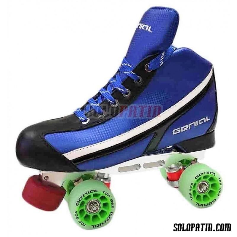 Conjunto Patines Hockey Genial Supra  Nº 6 Azul