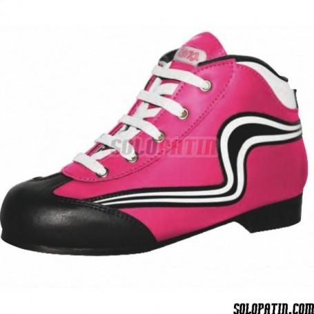 Rollhockey Schuhe Reno Einleintung Rosa Weiss