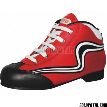 Rollhockey Schuhe Reno Einleintung Rot Weiss
