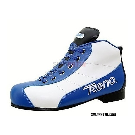 Patines Hockey Reno Milenium Plus III Azul Blanco R2 Vertical