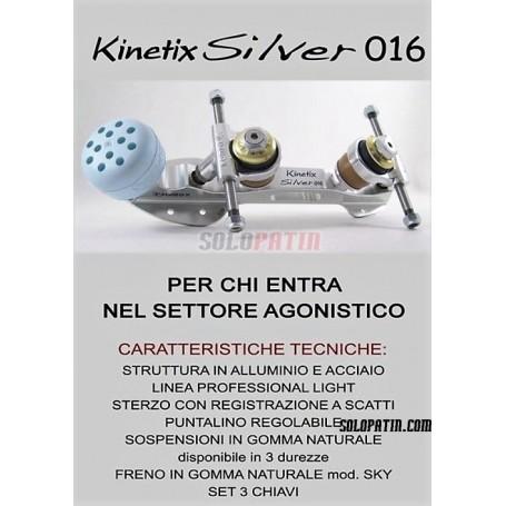 Planchas Patinaje Artístico Libre Komplex Kinetix Silver 016