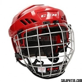 Casco Hockey CCM FL 40 COMBO ROJO