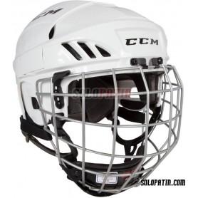Rollhockey Helm CCM FL 40 COMBO WEISS