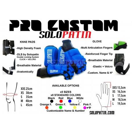 Protecciones Hockey Solopatin PRO Custom 2 piezas NEGRO