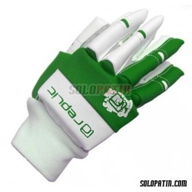 Guantes Hockey Replic Mini Verde / Blanco
