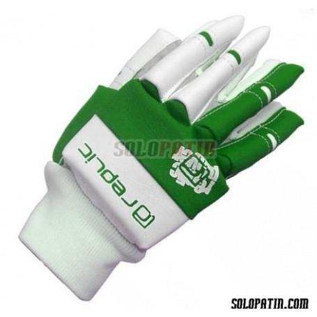 Guantes Hockey Replic Mini Verde / Blanco