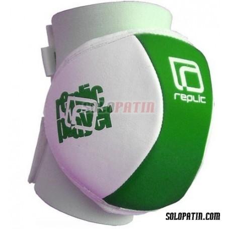 Ginocchiere Hockey Replic Mini Verde / Bianco