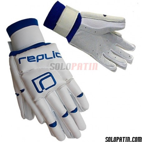 Guantes Hockey Replic R-10 Blanco / Azul